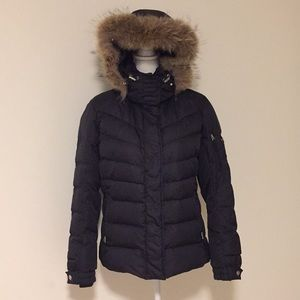 Bogner Fire + Ice Black Coat w/ Fur Hood!!